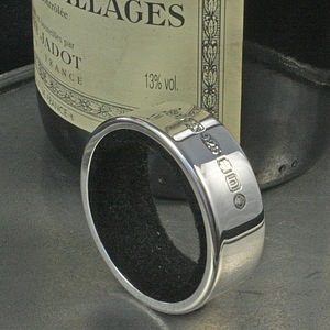 Personalised Silver Bottle Collar