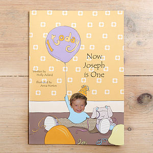 Photo-Personalised First Birthday Book - new baby gifts