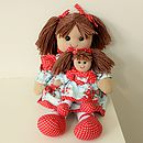 Blue and Red Floral Rag Doll