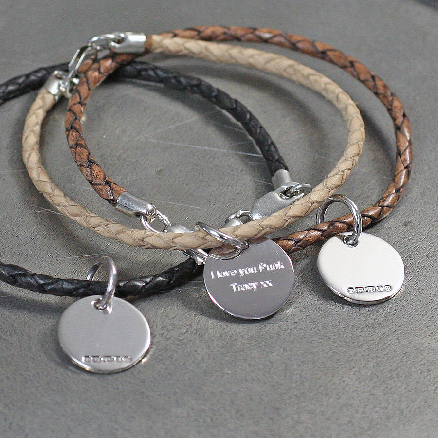 leather and silver friendship bracelets by hersey silversmiths. Black Bedroom Furniture Sets. Home Design Ideas