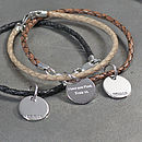 Leather And Silver Friendship Bracelets