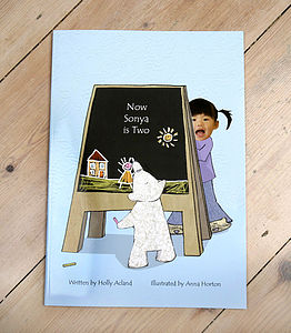 Now Name Of Child Is Two Hardback - personalised