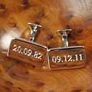 Solid Silver Cufflinks - Perfect For Engraving