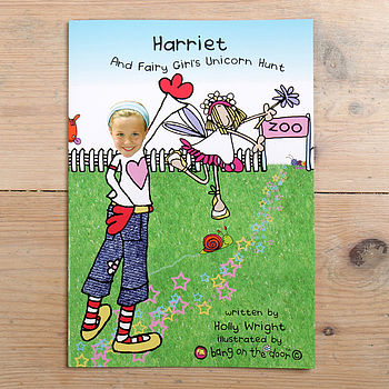 Name Of Child And Fairy Girl's Unicorn Hunt Hardback