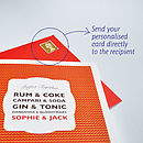 Personalised Perfect Drinks Card