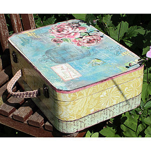 Vintage Style Suitcase - keepsake boxes