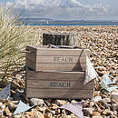 Wooden 'Beach' Style Crates Set Of Two