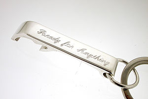 Personalised Sterling Silver Bottle Opener - men's accessories