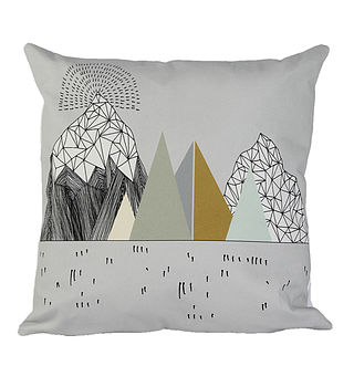 Mountain Print Cushion