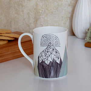 Mountain Design Mug - on trend: mountains & contours