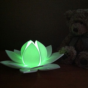 Lotus Flower Colour Changing LED With Sensor - table & floor lamps