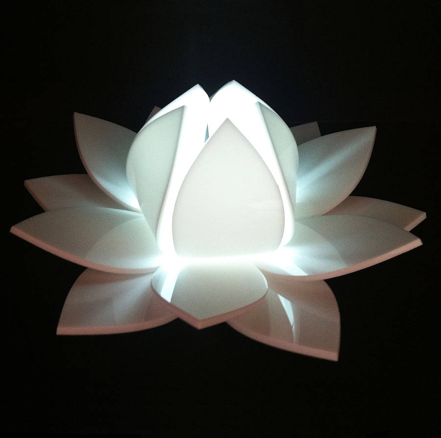 Lotus flower colour changing led battery operated light by kirsty lotus flower white flickering led candle light mightylinksfo