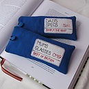 Bright Blue - London Sign Glasses Case