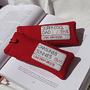 Bright Red - London Sign Glasses Case
