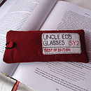 Old Red - London Sign Glasses Case