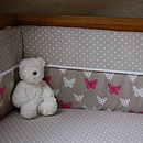 Butterfly Cot Bed Bumper And Sheet Set