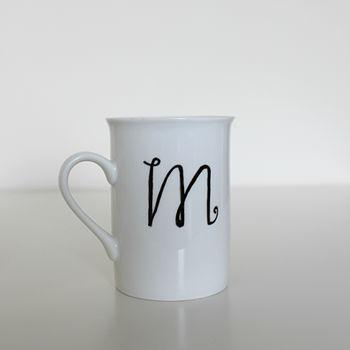 Personalised Monogrammed Initial Mug