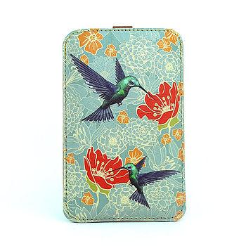 Hummingbird Leather Phone Case