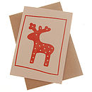 Rudolf The Reindeer Christmas Card