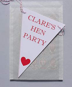 Personalised Hen Party Bunting - living room