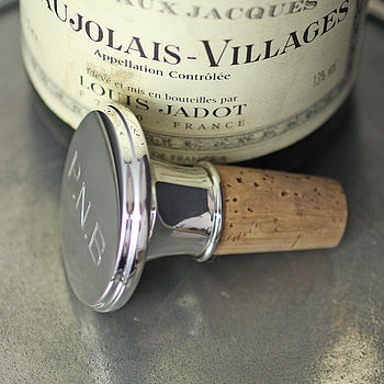 Personalised Silver Bottle Stopper