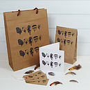 Feather Hand Printed Gift Bag