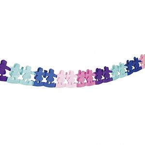 Paper Dolly Garland - decorative accessories