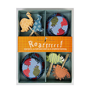 'Roar!' Dinosaur Cupcake Decoration Kit - kitchen accessories
