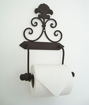 Wrought Iron Scroll Toilet Roll Holder