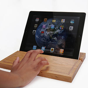 Wood iPad Holder - technology accessories