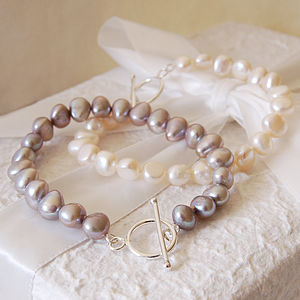 Freshwater Pearl And Sterling Silver Bracelet - wedding fashion