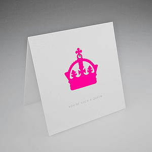 Neon Crown Card