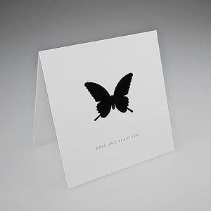 Flock Butterfly Card