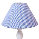 Lampshade Blue Gingham (choice of 5 fabrics)