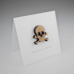 Oak Skull Magnetic Gift Card