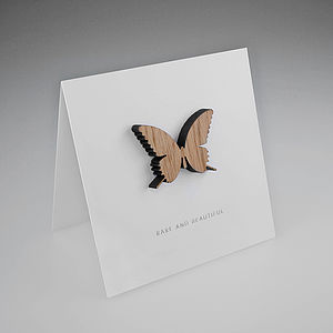Oak Butterfly Magnetic Gift Card