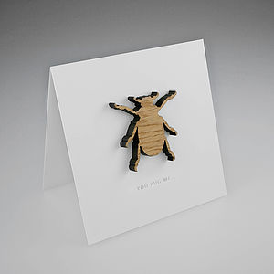 Oak Beetle Magnetic Gift Card - shop by category