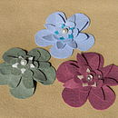 3 finished corsages