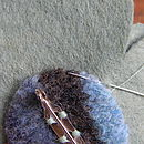 Sewing brooch-pin on