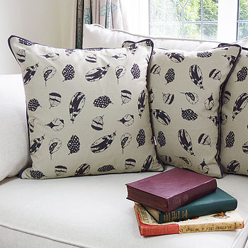 Feather Print Cushion