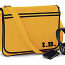 Personalised Retro Laptop Messenger Bag