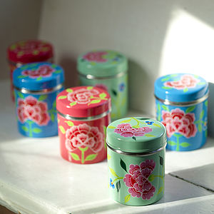 Enamel Storage Tin - decorative accessories