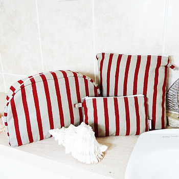 Stripe Toiletry Bags