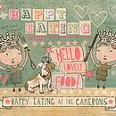 Happy eating design, personalised