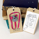 Mika The Mouse Handmade Bookmark pakaged front and back
