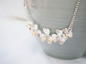 Silver Flower Necklace - necklaces & pendants