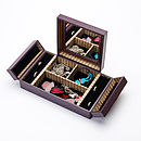 Purple Chinese Jewellery Box