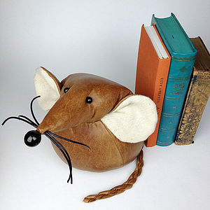 Handmade Monty The Giant Mouse - bookends