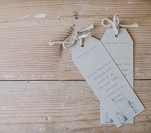 Bookmark Wedding Place Names