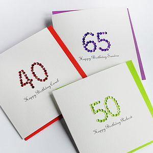Personalised Colourful Age Birthday Card